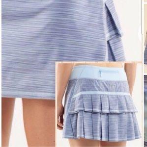 8 tall skirt blue stripes skort